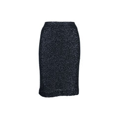 Sequined Cashmere Blend Skirt