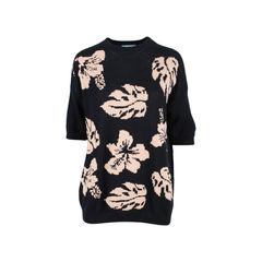 Tropical Print Knit Blouse