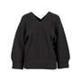 Authentic Second Hand Hermès Leather Trim V-neck Sweater (PSS-145-00210) - Thumbnail 0
