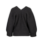 Authentic Second Hand Hermès Leather Trim V-neck Sweater (PSS-145-00210) - Thumbnail 1