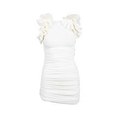 Ruffle Cotton Gauze Dress