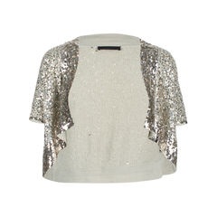 Sequined Cropped Cardigan