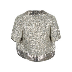 Donna karan sequined cropped cardigan 2?1537887619