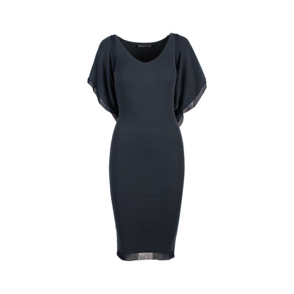 Authentic Second Hand Donna Karan Knitted Black Dress (PSS-145-00232)