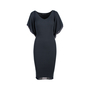 Authentic Second Hand Donna Karan Knitted Black Dress (PSS-145-00232) - Thumbnail 0