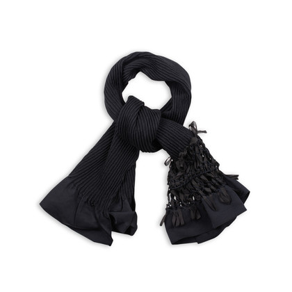 Authentic Second Hand Donna Karan Interwoven Detail Scarf (PSS-145-00189)