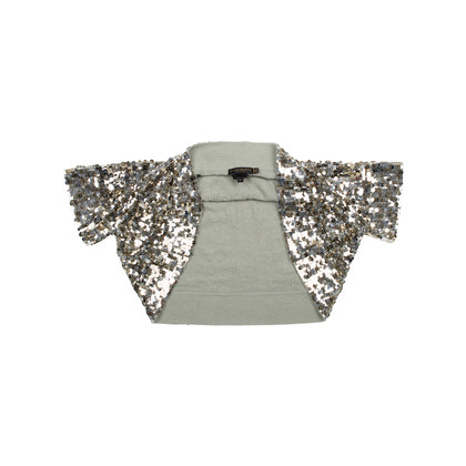 Authentic Second Hand Donna Karan Sequined Knit Shrug (PSS-145-00195)
