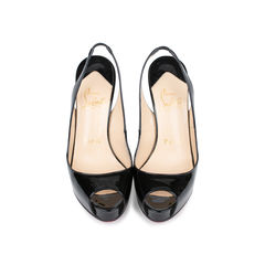 No Prive 120mm Patent Slingbacks
