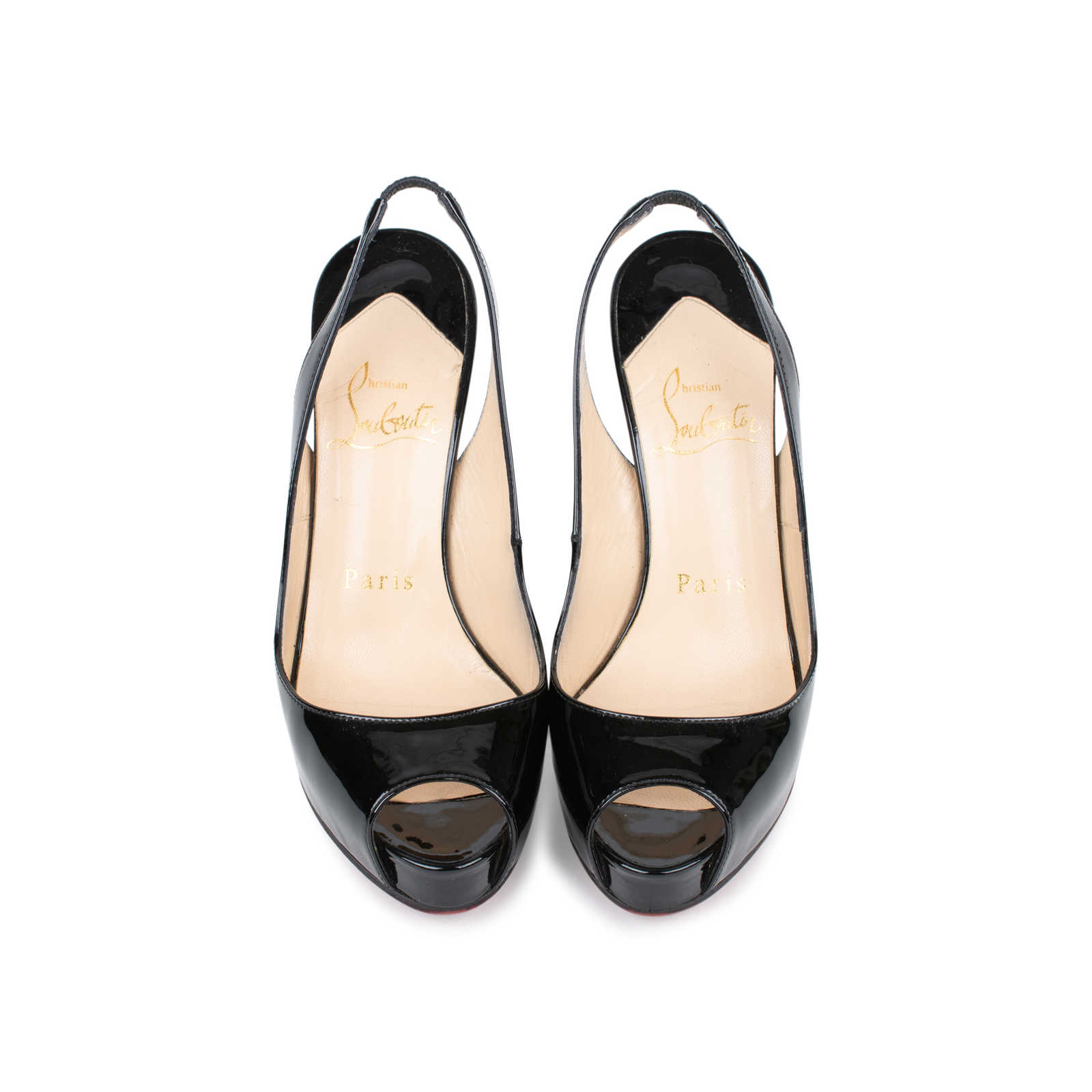 c6c13acb5e51 Authentic Second Hand Christian Louboutin No Prive 120mm Patent Slingbacks  (PSS-225-00035 ...