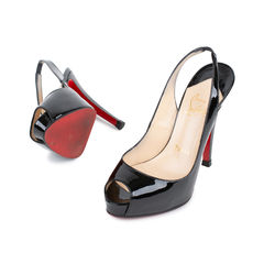 Christian louboutin no prive 120mm patent slingbacks 2?1537888255