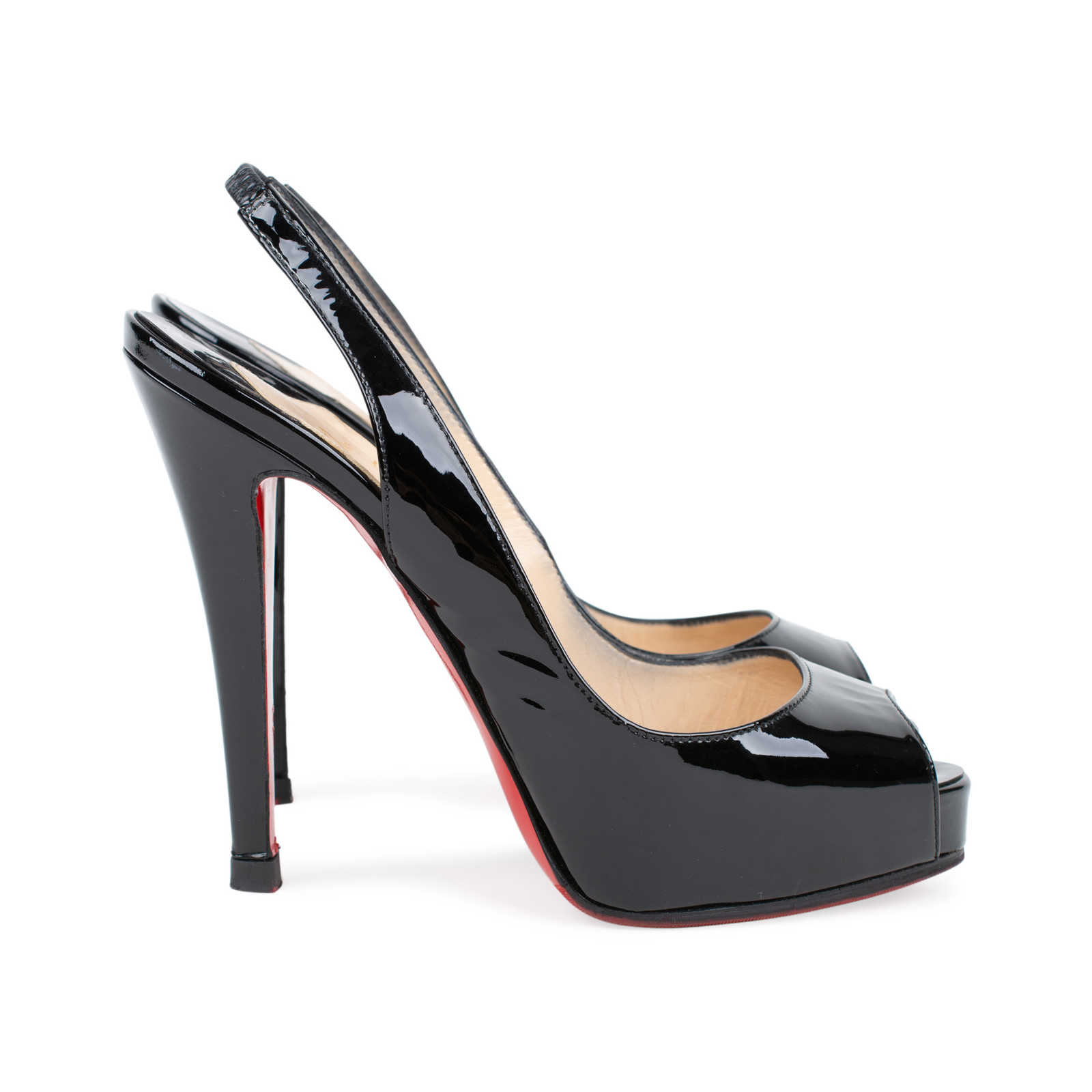 c0aaf5dc815c ... Authentic Second Hand Christian Louboutin No Prive 120mm Patent  Slingbacks (PSS-225-00035 ...