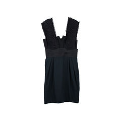 Pleated Chiffon Panelled Dress