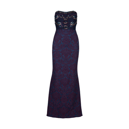 Authentic Second Hand Badgley Mischka Strapless Embroidered Gown (PSS-515-00051)