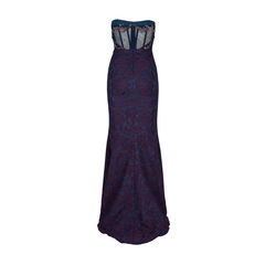 Badgley mischka strapless embroidered gown 2?1537888375