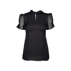 Ruched Sheer Blouse