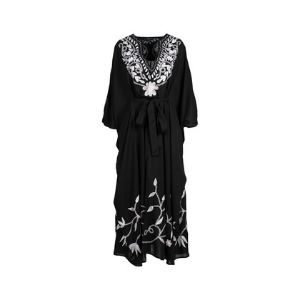 Authentic Second Hand Pas Pour Toi Sheer Embroidered Kaftan (PSS-075-00100)