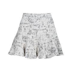 Cotton Blend Mini Skirt