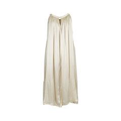 Ann demeulemeester champagne silk dress 2?1537944681