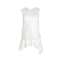 White Overlay Lace Top