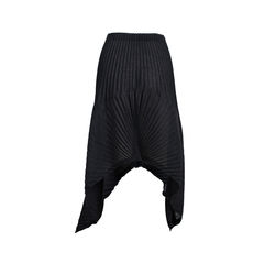 Issey miyake black pleated mini skirt 2?1537951913