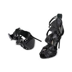 Giuseppe zanotti python flower applique sandals 2?1538557464