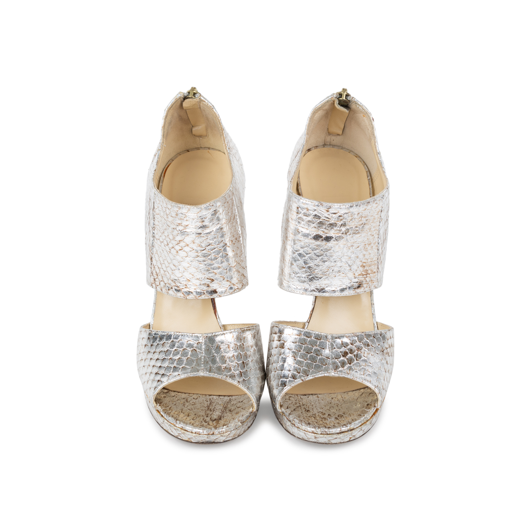 27dca70ee Authentic Second Hand Jimmy Choo Zipped Elaphe Snake Sandals  (PSS-557-00008)