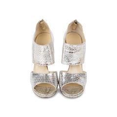 Zipped Elaphe Snake Sandals