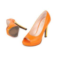 Versace python peep toe pumps 2?1538557696