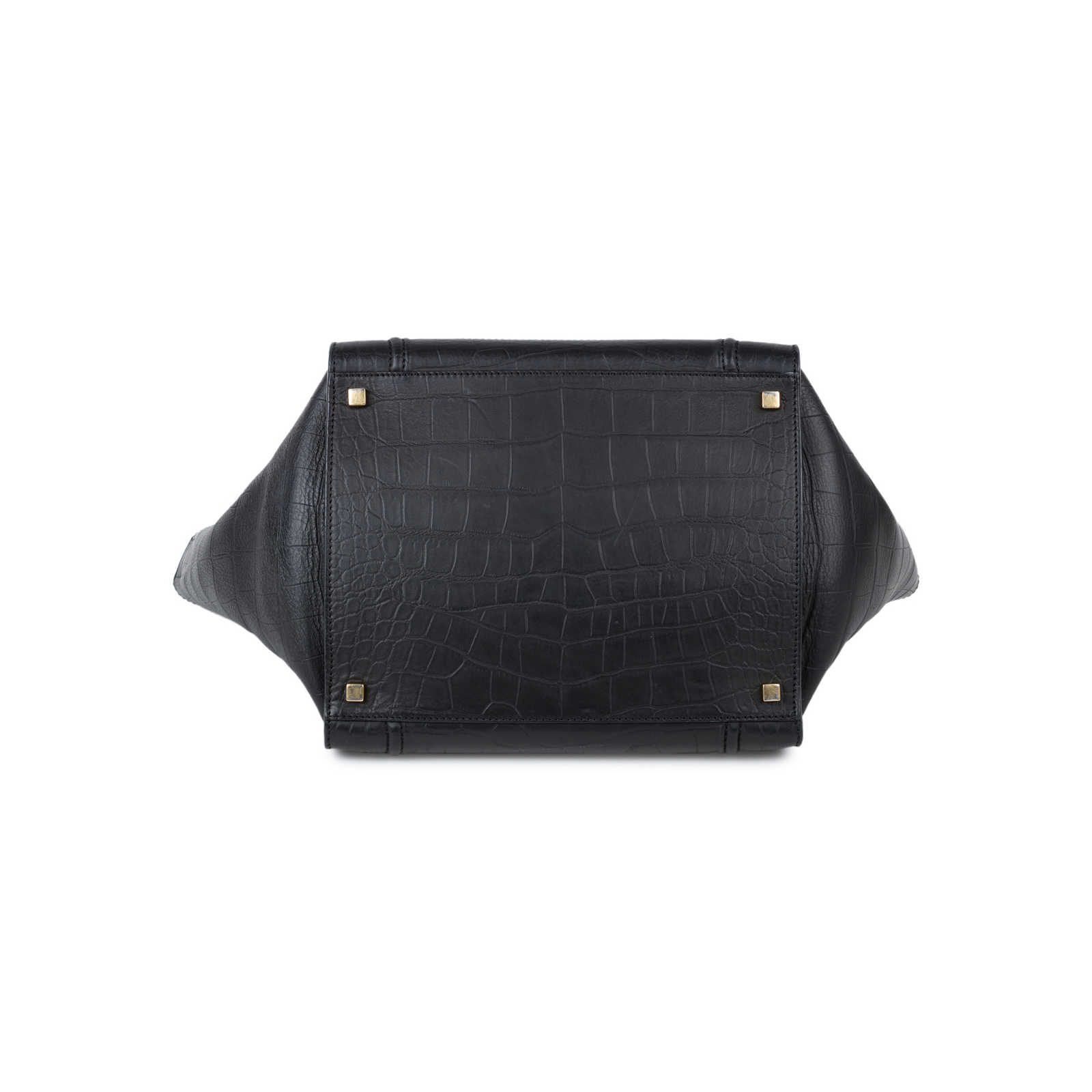 6a35a3ebeaaf ... Authentic Second Hand Céline Crocodile Embossed Phantom Luggage Tote  (PSS-553-00002) ...