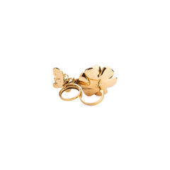 Butler and wilson flower and butterfly double finger ring 2?1538640323