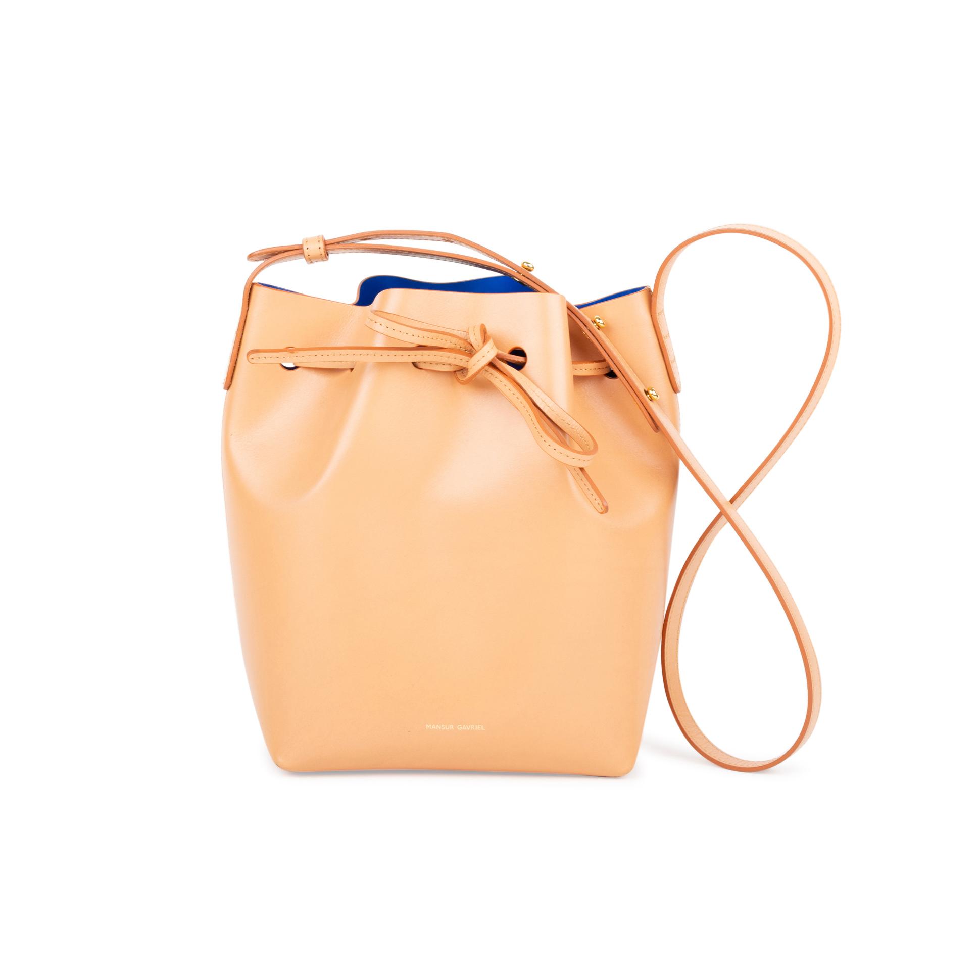f954db8103e0 Authentic Second Hand Mansur Gavriel Cammelo Mini Bucket Bag  (PSS-558-00002)