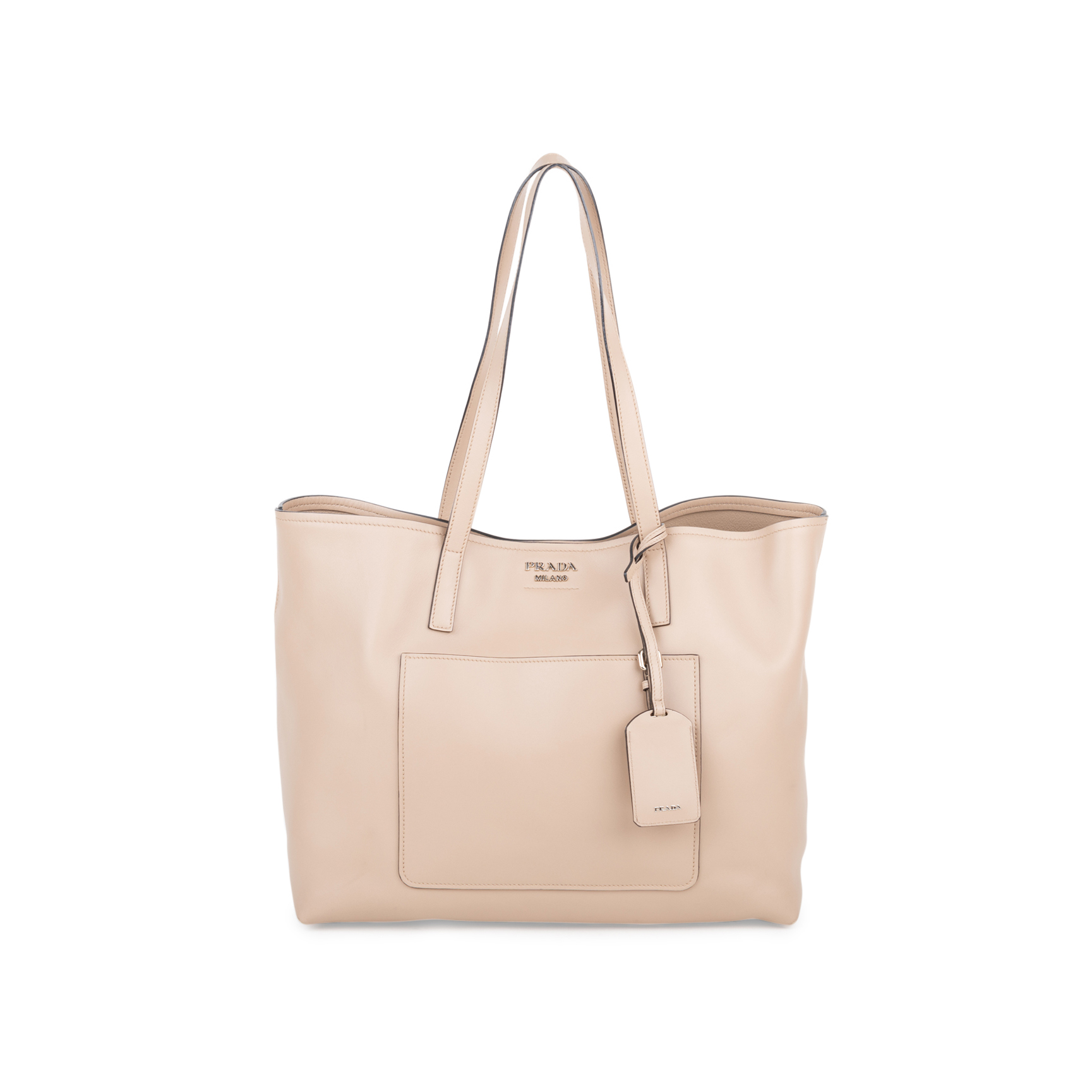 98c7c916f0 Authentic Second Hand Prada City Calf Shopping Tote (PSS-554-00004) - THE  FIFTH COLLECTION