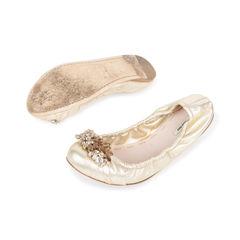Miu miu embellished ballet flats 2?1538713486