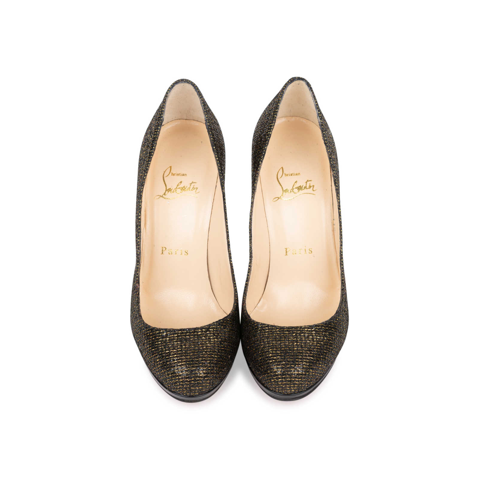529bc9b98827 Authentic Second Hand Christian Louboutin Filo Glitter Pumps  (PSS-558-00011) ...