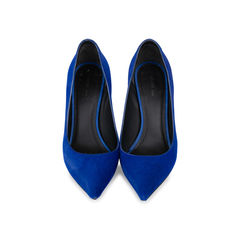 Pony Hair Pointed Toe Pumps