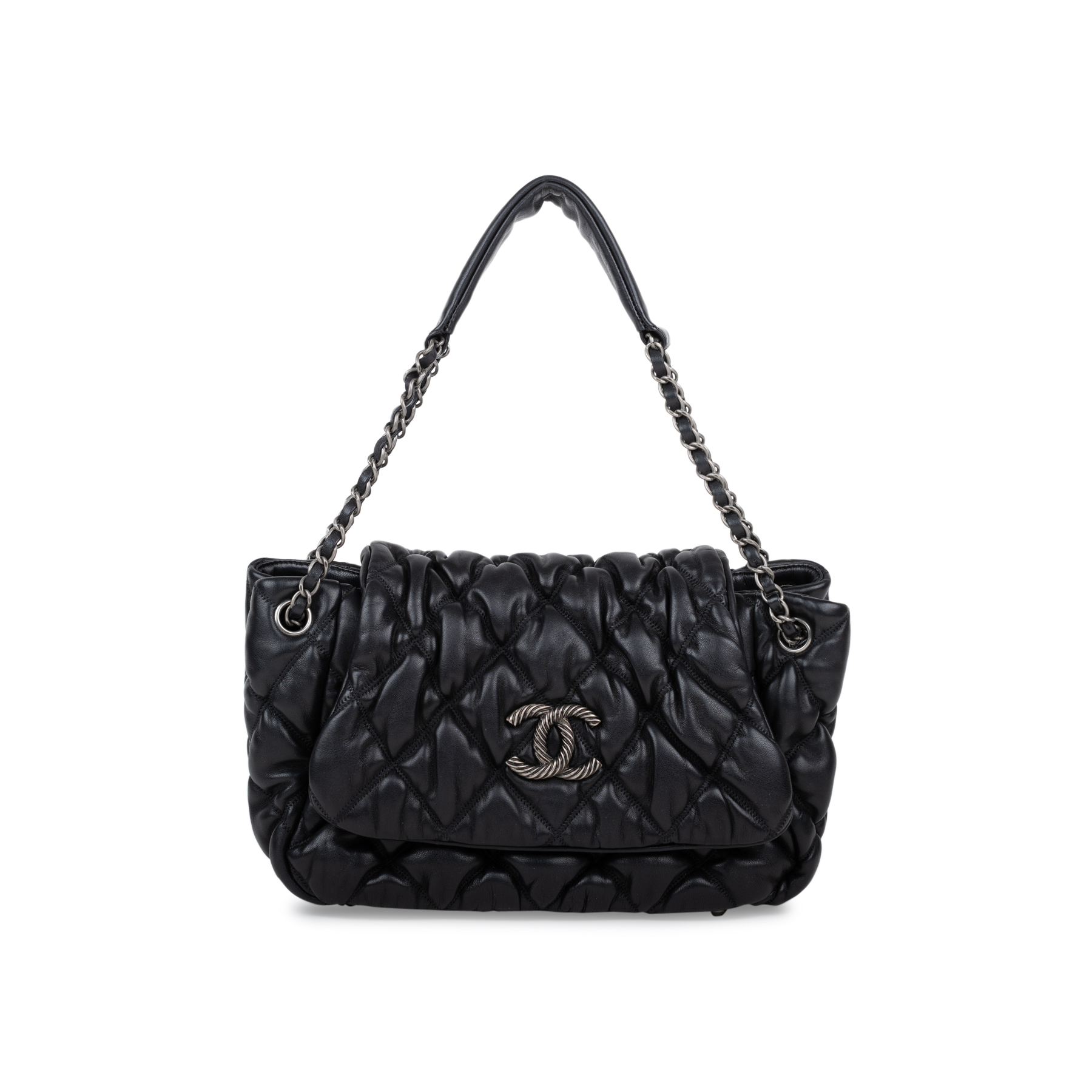 e60a20ea3d48 Authentic Second Hand Chanel Bubble Quilt Accordion Flap Bag  (PSS-566-00007) | THE FIFTH COLLECTION