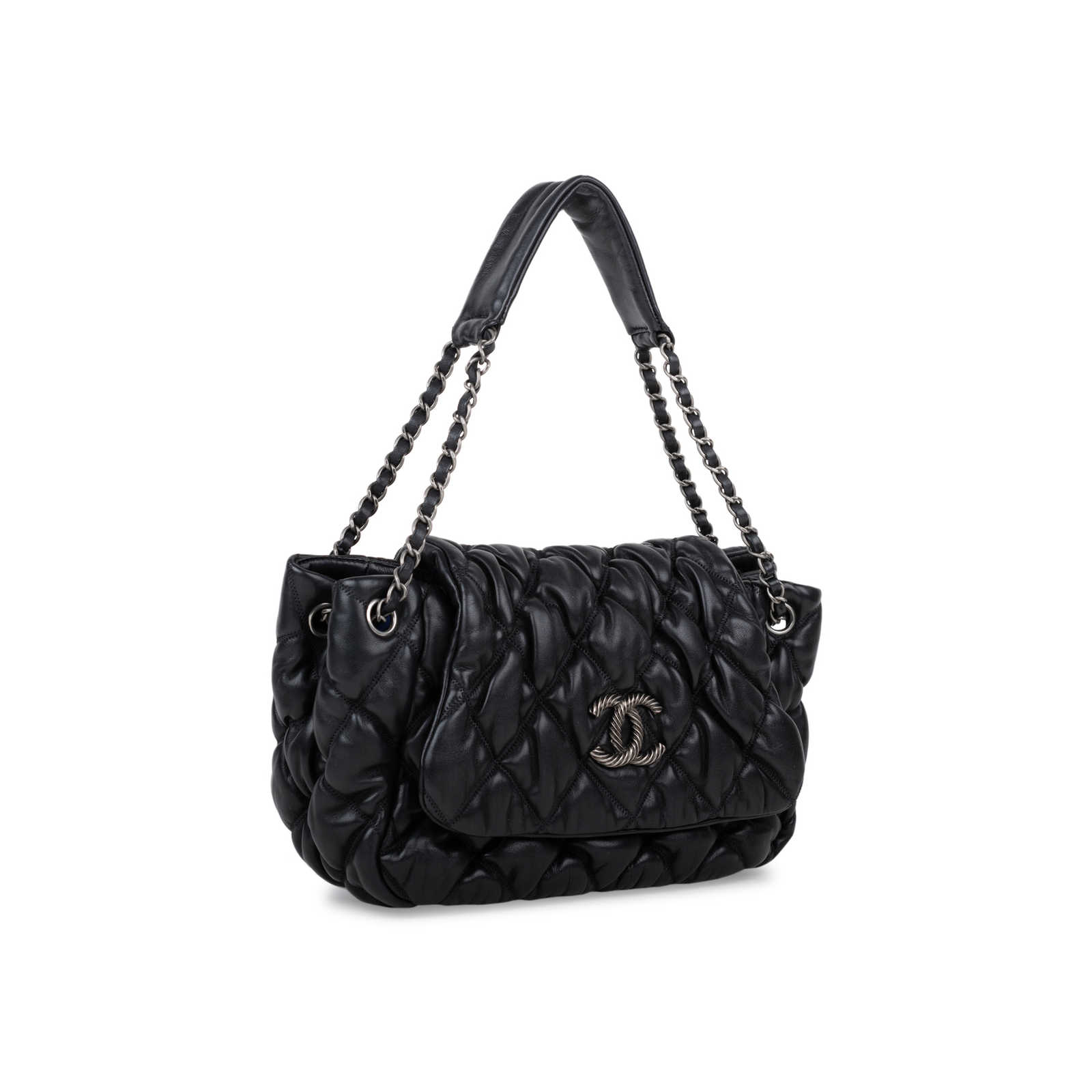 1a73a5bbc673 ... Authentic Second Hand Chanel Bubble Quilt Accordion Flap Bag  (PSS-566-00007) ...