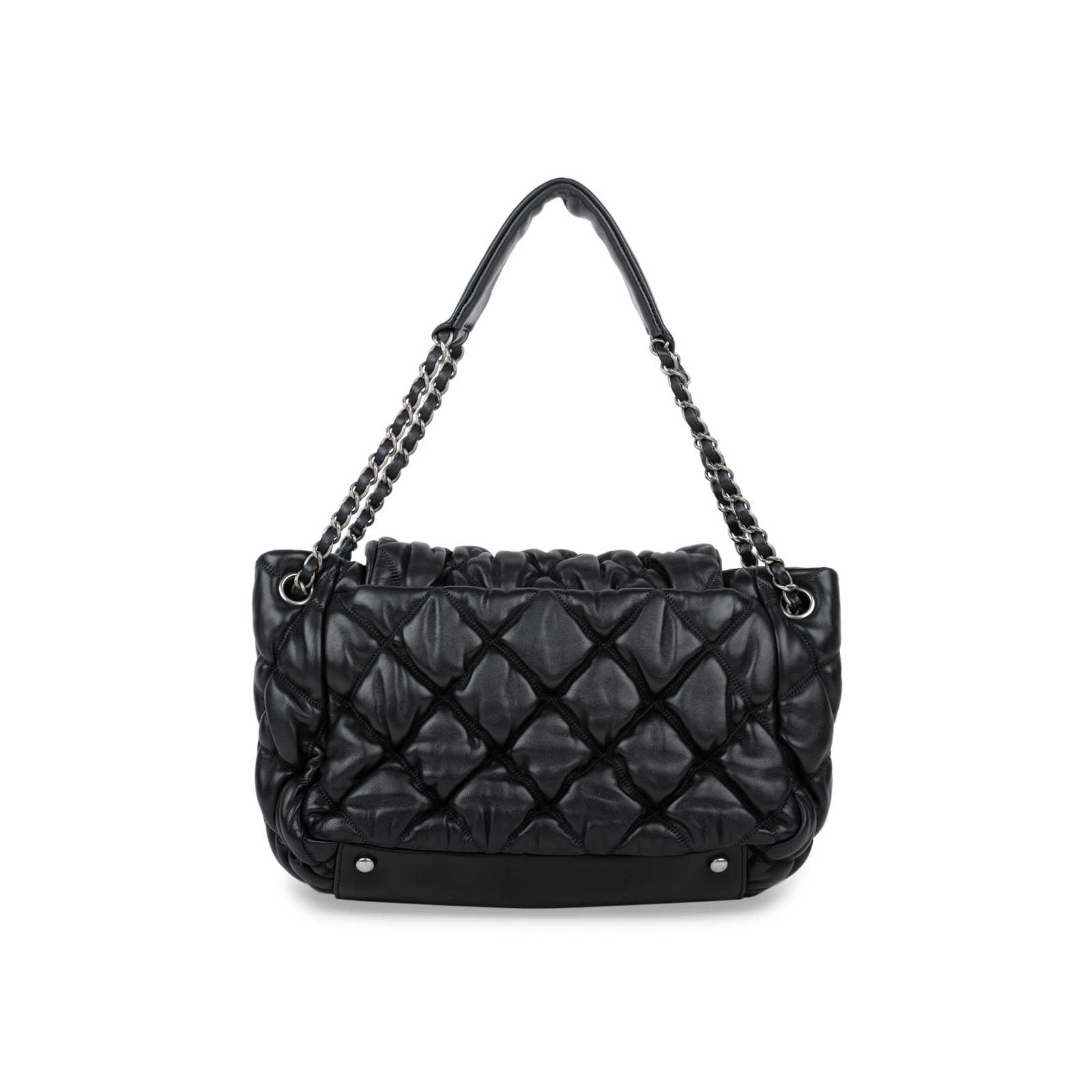 3502fe5247eb ... Authentic Second Hand Chanel Bubble Quilt Accordion Flap Bag  (PSS-566-00007) ...