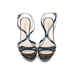 Two Tone Patent Strappy Sandals