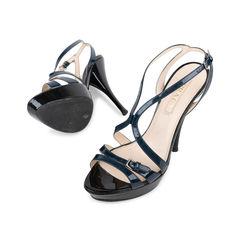 Prada two tone patent strappy sandals 2?1538988167