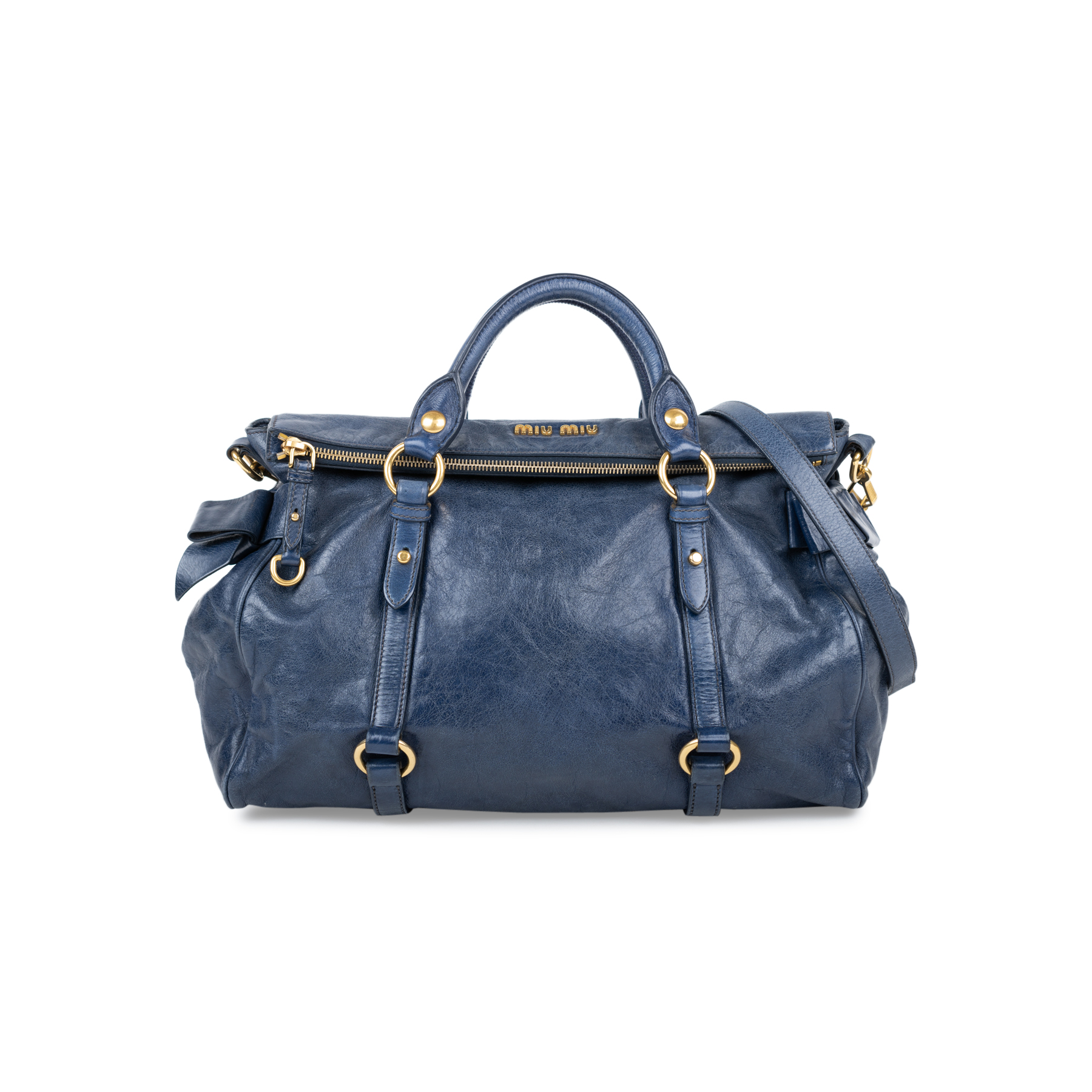11389462edc9 Authentic Second Hand Miu Miu Vitello Lux Bow Bag (PSS-566-00066 ...