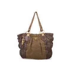 Tessuto Nappa Gaufre Chainlink Bag