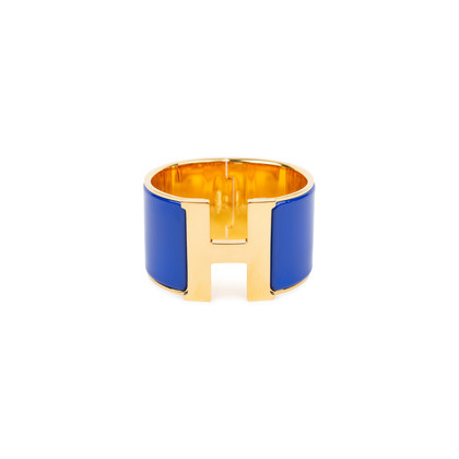 Authentic Pre Owned Hermès Clic H Extra Wide Bangle (PSS-566-00039)