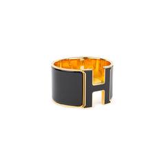 Hermes clic h extra wide bangle black 2?1539066636