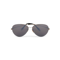 Feather Aviator Sunglasses
