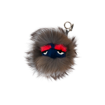 Authentic Pre Owned Fendi Bag Bugs Charm (red and blue face) (PSS-566-00004)