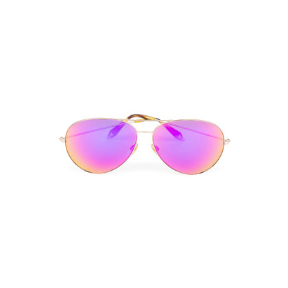 Authentic Second Hand Victoria Beckham Fuchsia Mirrored Classic Victoria Sunglasses (PSS-566-00060)