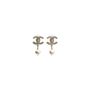 Authentic Second Hand Chanel CC Dangle Pearl Earings (PSS-566-00053) - Thumbnail 0