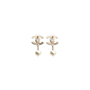 Authentic Second Hand Chanel CC Dangle Pearl Earings (PSS-566-00053) - Thumbnail 1