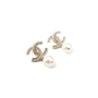 Authentic Second Hand Chanel CC Dangle Pearl Earings (PSS-566-00053) - Thumbnail 2